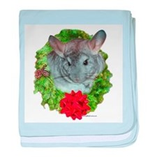 Chinchilla Wreath baby blanket
