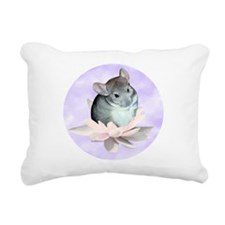 Chin Lily Purple Rectangular Canvas Pillow