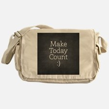 Chalkboard Make Today Count Messenger Bag