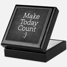 Chalkboard Make Today Count Keepsake Box
