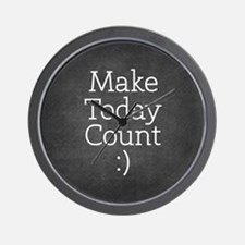 Chalkboard Make Today Count Wall Clock