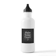 Chalkboard Make Today Count Water Bottle
