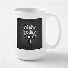 Chalkboard Make Today Count Mugs