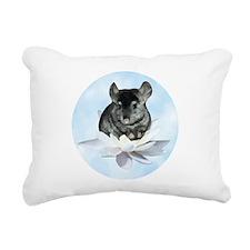 Chin Lily Blue Rectangular Canvas Pillow