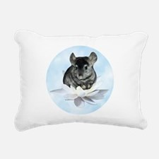 Chin Lily Blue Rectangular Canvas Pillow
