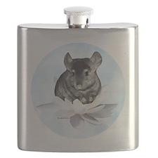 Chin Lily Blue Flask
