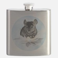 Chin Lily Blue Flask