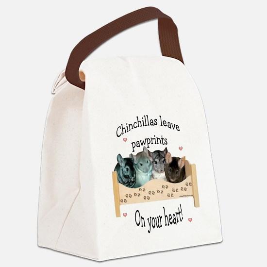 Chinpawprintsdark.png Canvas Lunch Bag