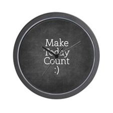 Chalky Make Today Count Wall Clock