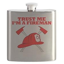 Trust Me Im A Fireman Flask