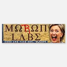 Moron Labe - Hillary Clinton Bumper Bumper Sticker