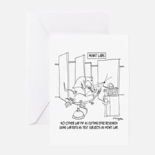 Cutting Edge Lab Rats Greeting Card