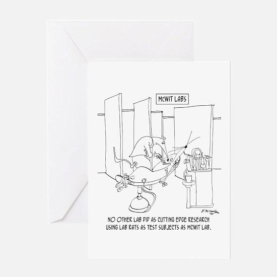 Cutting Edge Lab Rats Greeting Card