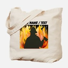 Custom Silhouetted Firefighter Tote Bag