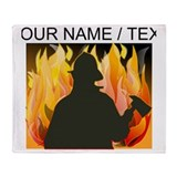 Personalized firefighter Fleece Blankets
