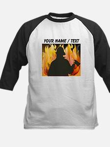 Custom Silhouetted Firefighter Baseball Jersey