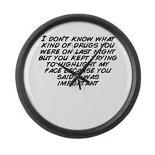 You don%27t know Large Wall Clock
