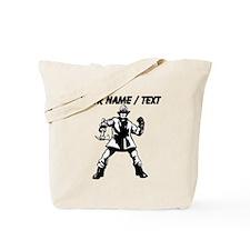 Custom Fireman With Axe Tote Bag