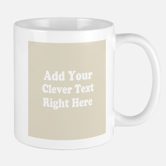 Add Text Background Gray Mugs