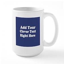 Add Text Background Blue Mugs