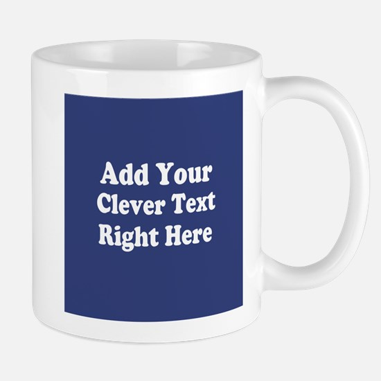 Add Text Background Blue Mugs