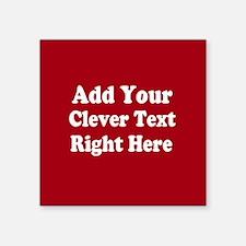 Add Text Background Red White Sticker