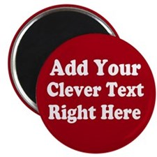 Add Text Background Red White Magnets