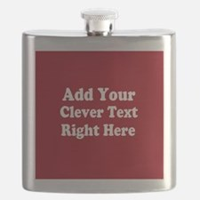 Add Text Background Red White Flask