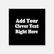 Add Text Background Black White Sticker