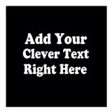 Add ur own text Square Car Magnets