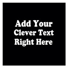 Add Text Background Black White Invitations
