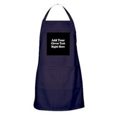 Add Text Background Black White Apron (dark)