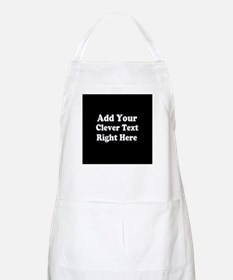 Add Text Background Black White Apron