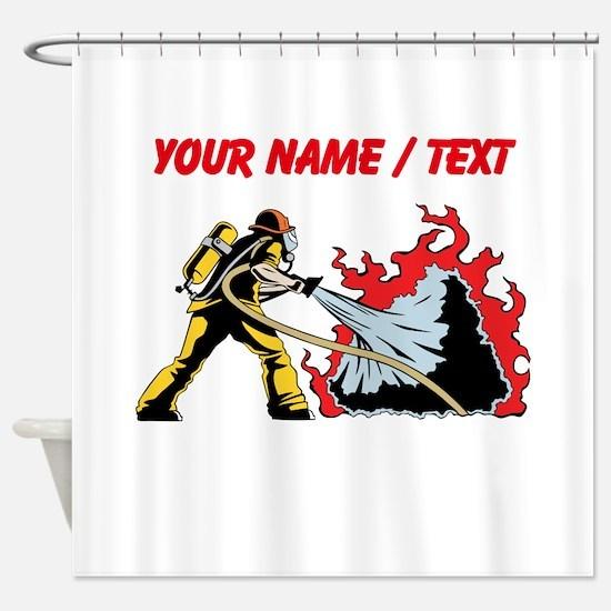 Custom Firefighter Shower Curtain