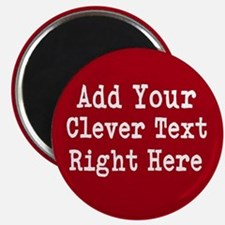 Add Text Background Red Magnets