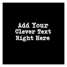 Add Text Background Black Invitations