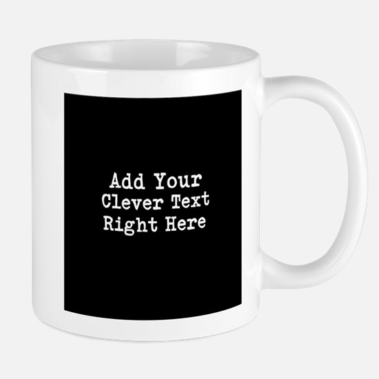 Add Text Background Black Mugs