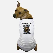 Custom Firefighter In Smoke Dog T-Shirt