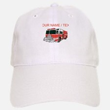 Custom Red Fire Truck Hat
