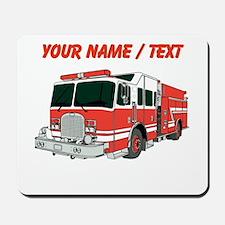 Custom Red Fire Truck Mousepad