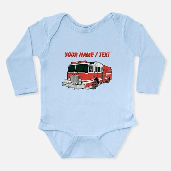 Custom Red Fire Truck Body Suit