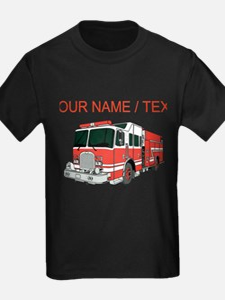 Fire truck kid 39 s clothing fire truck kid 39 s shirts hoodies for Custom fire t shirts