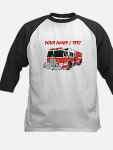Custom Red Fire Truck Baseball Jersey