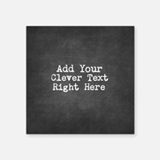 Add Text Background Chalkboard Sticker