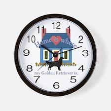 Golden Retreiver Gifts Wall Clock