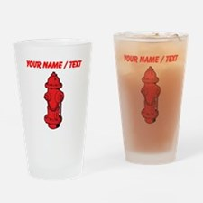 Custom Red Fire Hydrant Drinking Glass