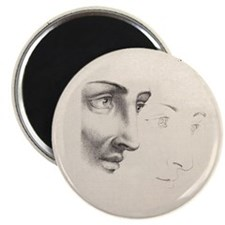 Neo-Classical French Drawing Elegant Faces Magnets