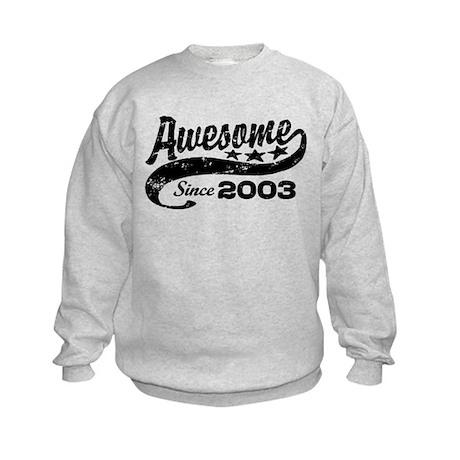 Awesome Since 2003 Kids Sweatshirt