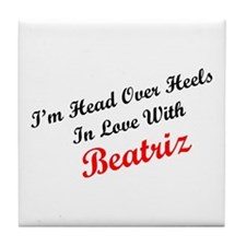 In Love with Beatriz Tile Coaster