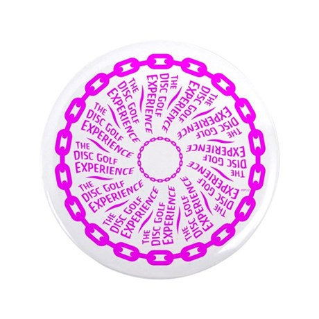 """The Disc Golf Experience 3.5"""" Button (100 pack)"""